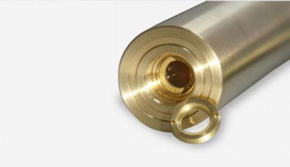 Gold shell blue beam laser pointer